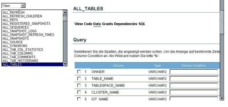 Datenquery Table 2